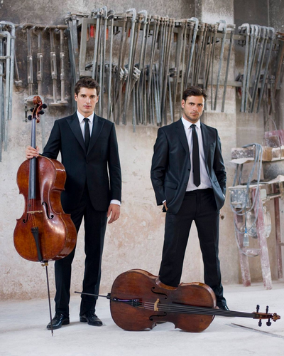 Croatian cellists Luka Sulic and Stjepan Hauser are 2Cellos