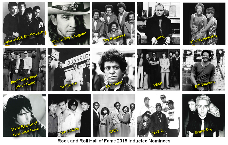 Rock and Roll Hall of Fame 2015 Inductee Nominees